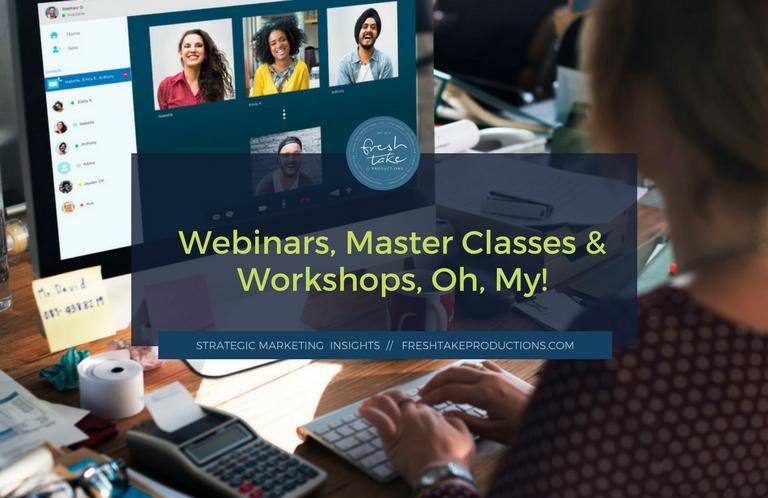webinars master classes workshops