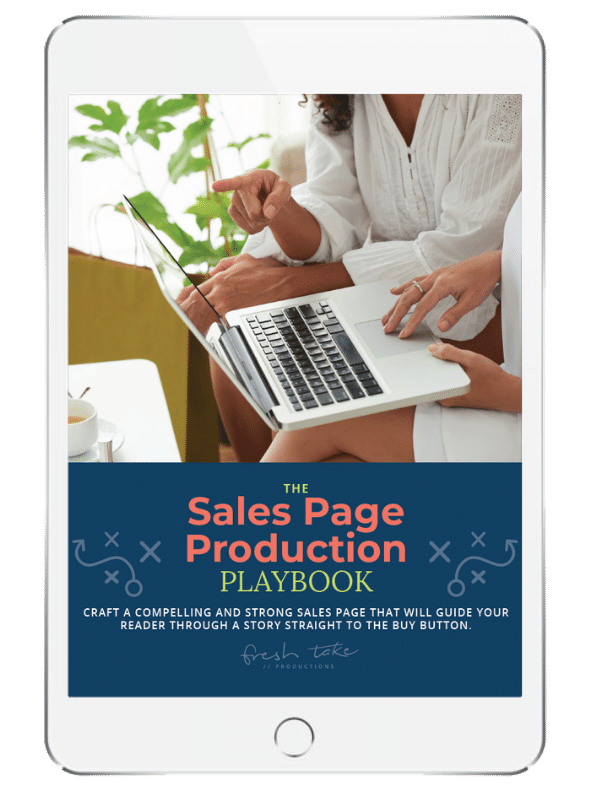 sales page production