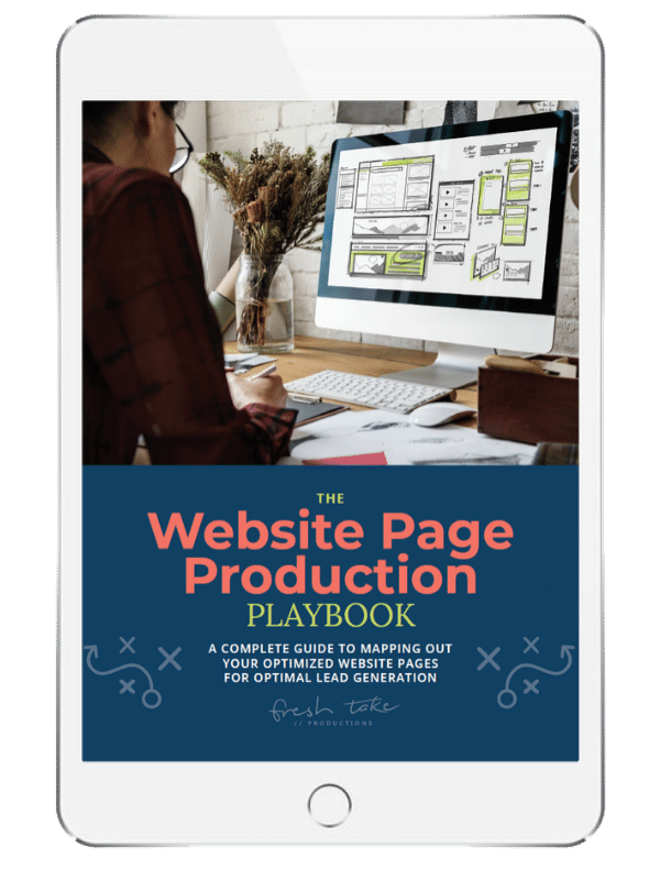 website page production
