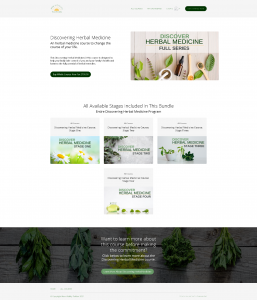 Thinkific Simple Course Bundle page