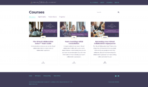 Thinkific Courses Overview Page